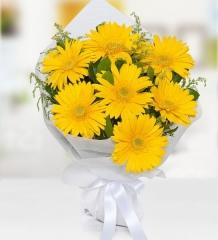 Sarı Gerbera Buket