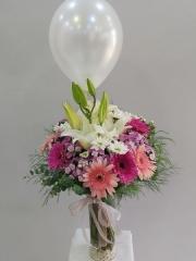 Beyaz Balonlu Aranjman